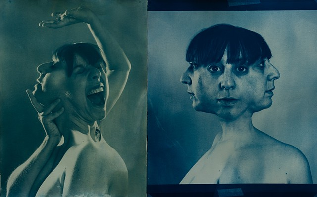 Cyanotypes from Deconstructed Portraiture