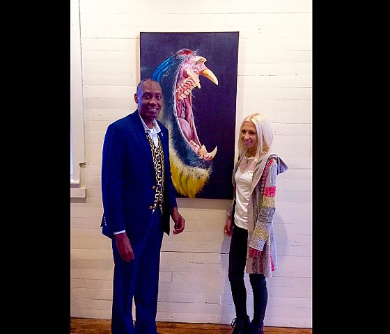 "African Wildlife Foundation President Kaddu Sebunya ""Wild and Balanced"" at Gallery 222 - Hurleyville, NY"