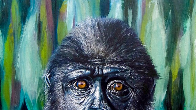 Chimpanzee Painting