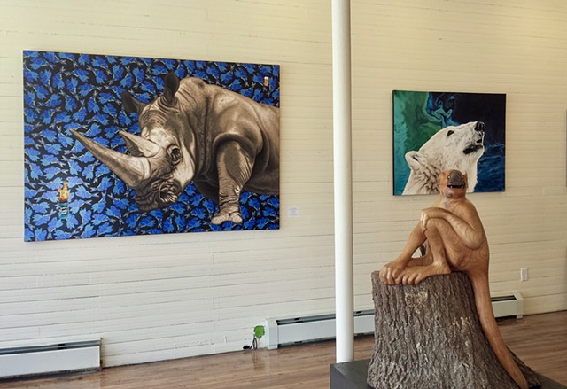 """Wild and Balanced"" at Gallery 222 - Hurleyville, NY"