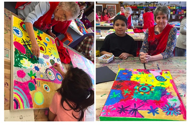 "Inter-Generational Art Project  ""Brewster Buddies"" Brewster Senior Living and Quincy Signature Art School Partnership"""