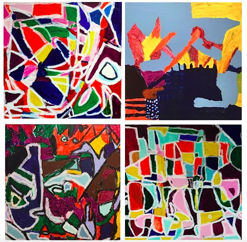 Monogram Abstract Paintings 4th Grade