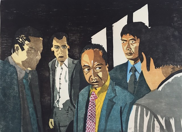 """Yakuza Print: """"I'll Have You All Arrested"""" (proof)"""