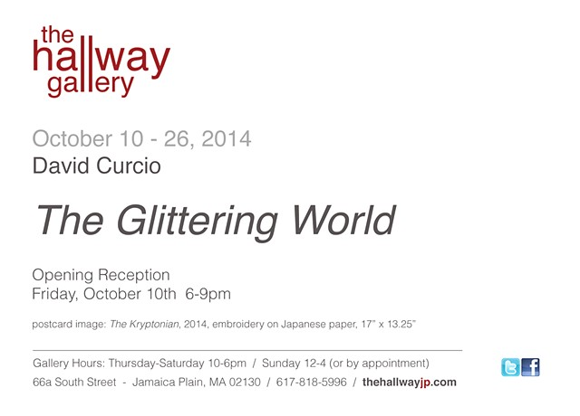 "announcement for ""David Curcio: The Glittering World"""