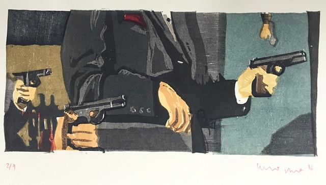 Yakuza Print: 3 Rods