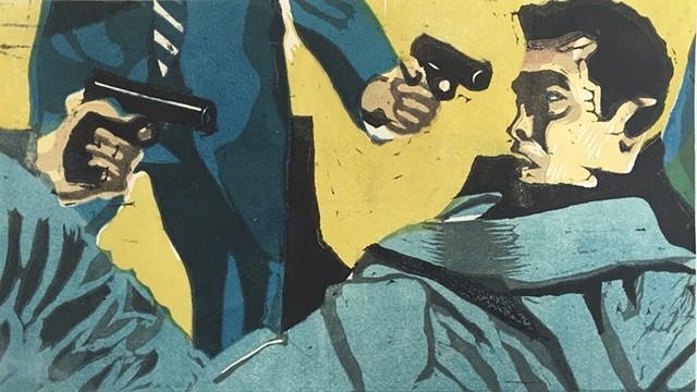 Yakuza Print: Cornered (yellow)