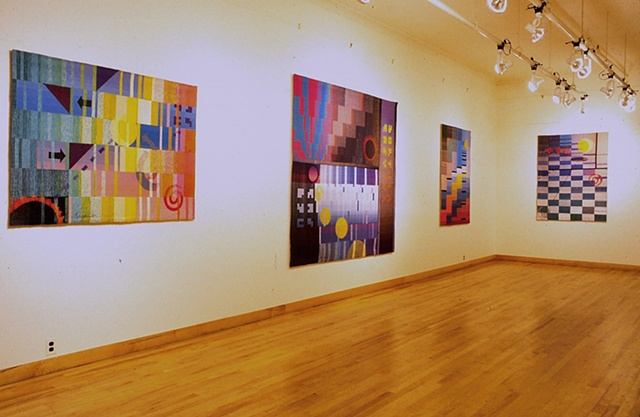 """Unanswered Questions"" solo show at the Center for Tapestry Arts, New York, NY, 1990"