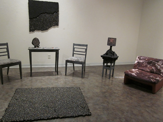 """""""The Ground Beneath My Feet"""" solo show at Eastern Michigan University, April 2011"""