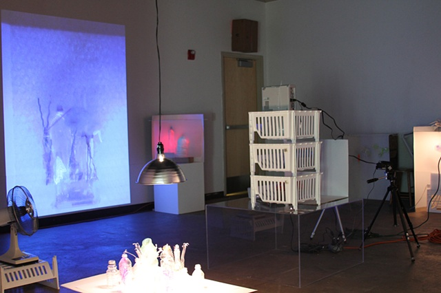 """Spin-O-Matic Substance & Shadow"" installation at the IGG Gallery, Eastern Michigan University"