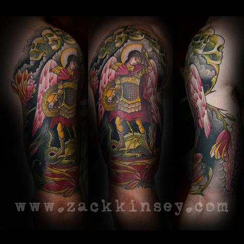Ben's Archangel Michael 1/2 sleeve
