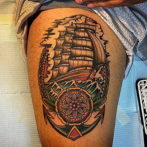 Mano's ship