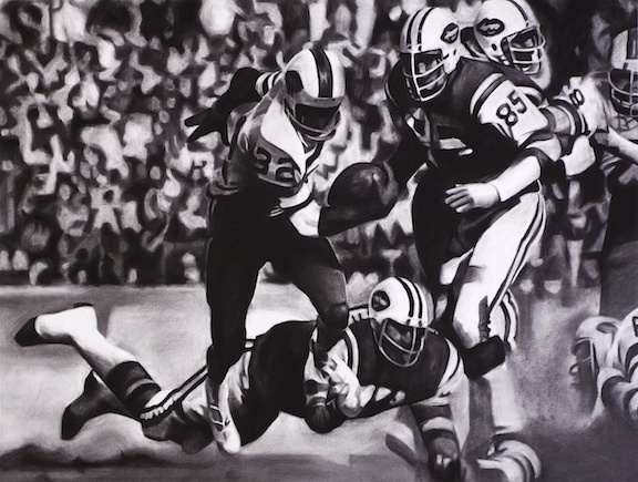 November 2nd, 1975 O.J. Simpson, of the Buffalo Bills, tries to score