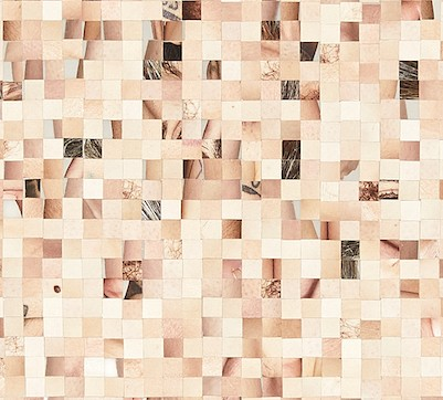 detail, All of Me (in 1cm Squares, Arranged Randomly Within a Rectangle That Is My Average Height and Width)