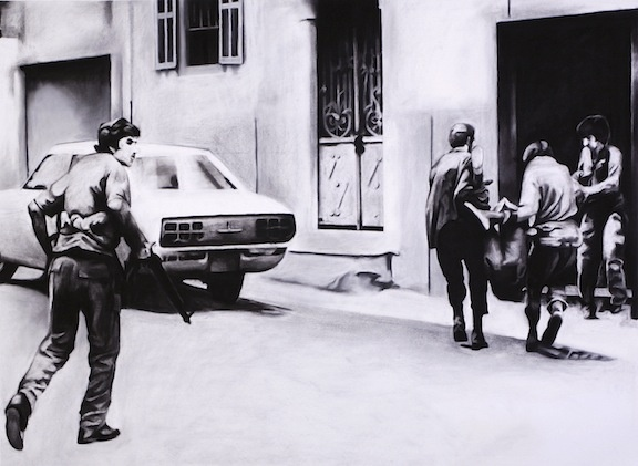 November 2nd, 1975 Muslim fighters clash with Christian militias in Beirut, Lebanon