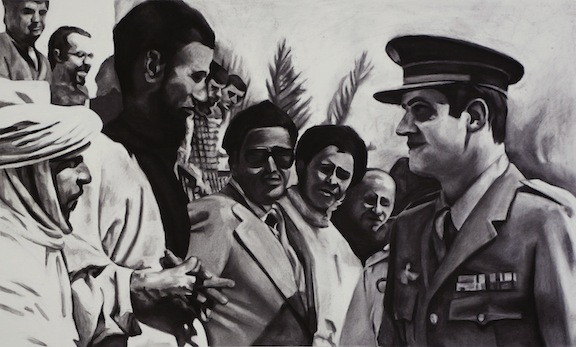 November 2nd, 1975 Prince Juan Carlos of Spain meets with residents of the disputed territory of Spanish Sahara
