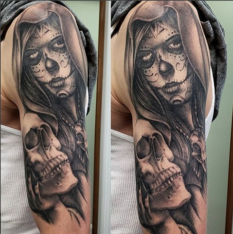Day of the Dead 1/2 Sleeve