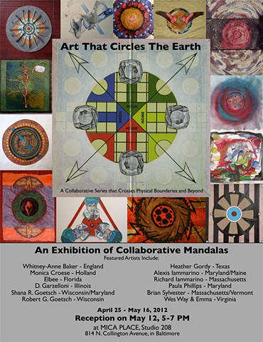 """Art That Circles The Earth"" exhibition poster"