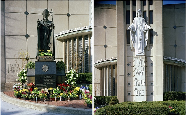 Pope John Paul II and Jesus at St. Helen's Church