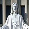 Pope John Paul II and Jesus at St. Helen's Church, detail