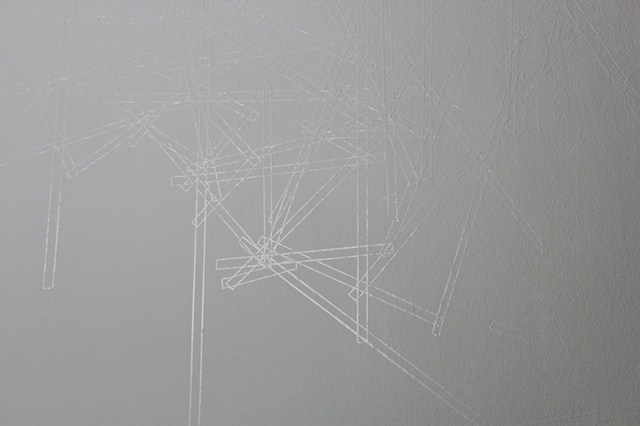 White Vinyl Tape Drawing