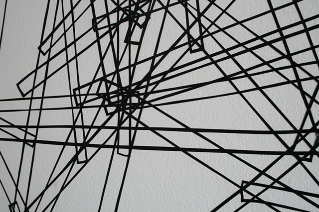 Black Vinyl Tape Drawing