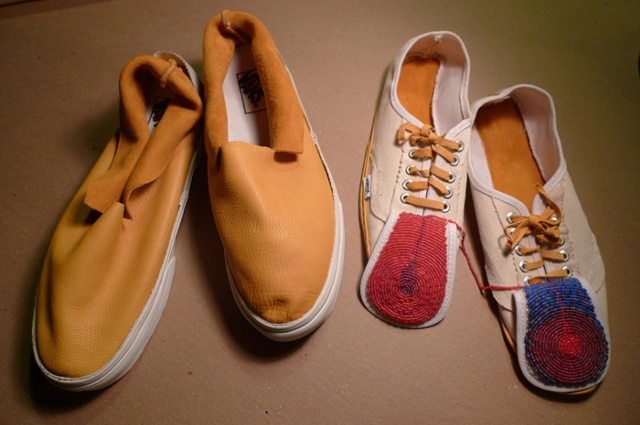 Vans revised with tongues sticking out #1 and #2