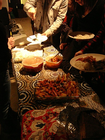 Feast Event, January 16th - Cauliflower and chickpea stew, basmati rice, roasted root vegetables.