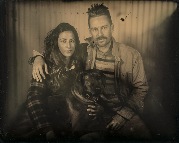 A 4 inch by 5 inch dryplate tintype by Columbus, Ohio artist Stephen Takacs taken at 400 West Rich Farmers Market