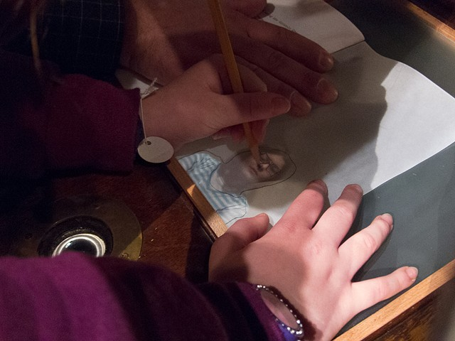 Tracing Using the Victrola Obscura at the Wexner Center for the Arts