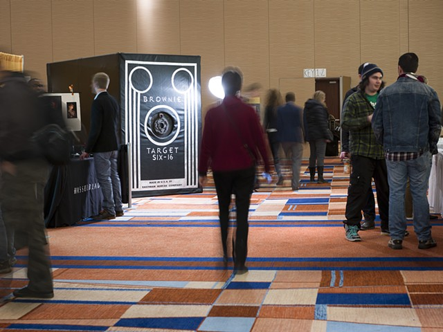 Camera obscura installed in the exhibits hall at 2014 SPE National conference in Baltimore Maryland