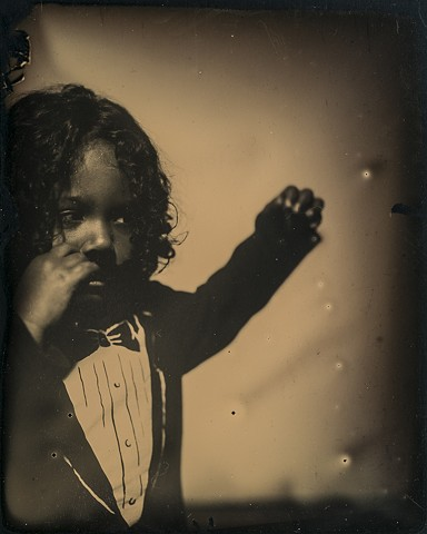 A 4 inch by 5 inch dryplate tintype by Columbus, Ohio artist Stephen Takacs taken at 400 West Rich.