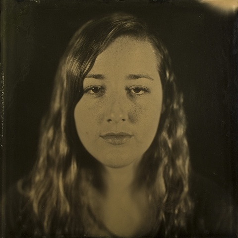 """Makensie Stephen is a 16 x 16 inch ambrotype created by Stephen Takacs as part of the series """"a case study of stephen."""""""
