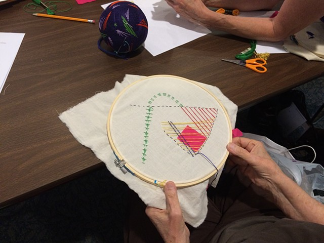 Library Workshop- Embroidery