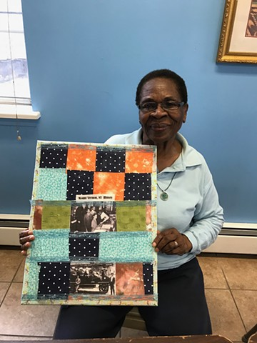 History of Mt. Vernon Fabric collage