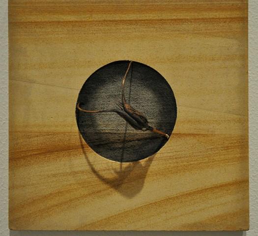 contemporary minimalist mixed media sculpture