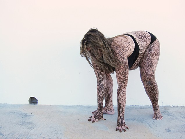 %Hairy Monsters% is a series of work where I transform poolside ladies into hairy beasts. #Zehra Khan #performance #costume #photograph #beast #art Zehra Khan is an artist who likes to make things by hand, whether it is drawing, sculpture, or films of her
