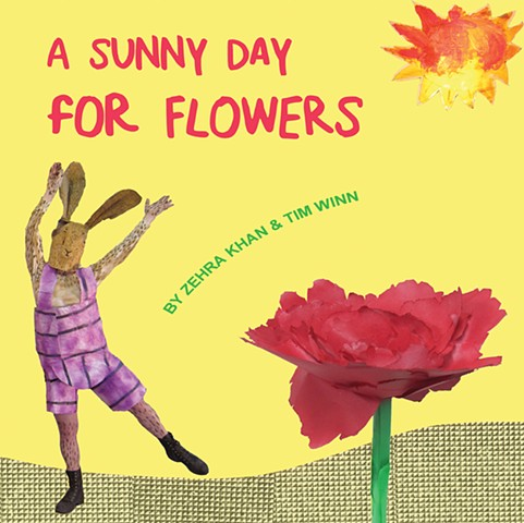 A Sunny Day for Flowers is an illustrated children's book is about flowers and their funny and often furry friends by Zehra Khan and Tim Winn. #ASunnyDayforFlowers #ZehraKhan #SoberscovePress #Chicago #childrensbook #babybook #artbook #funkidsbook