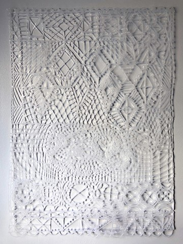 Artwork by Zehra Khan. Fake quilt made of hot glue. #quilt #hotglueart #fakequilt #faketextiles #zehrakhan #zehrakhanart #contemporaryart