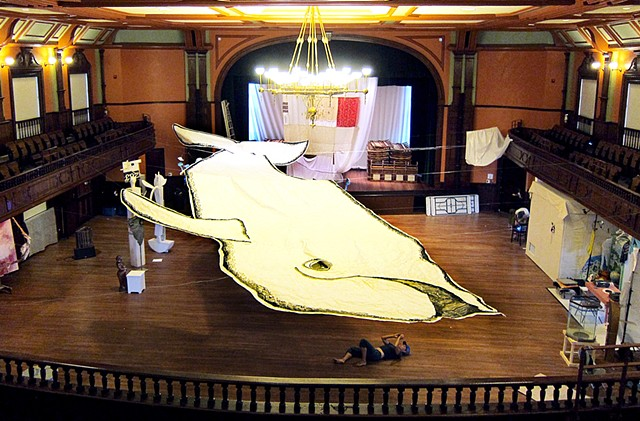 The Right Whale was exhibited at the Provincetown Town Hall - 10 Days of Art festival in Provincetown, MA. Sep 2013.  #provincetownart #rightwhale #provincetownwhale #whaleart #whaleinstallation