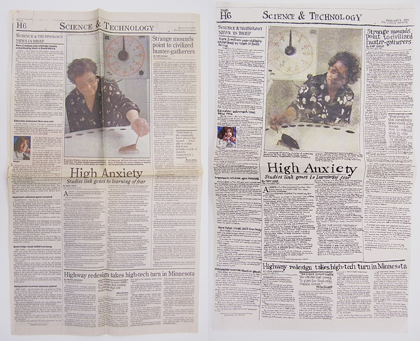 Amy Flaherty Palindromic Sequences newspaper Art