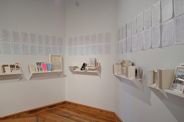 Journal Installation Amy Flaherty Essex Art center