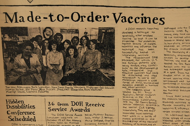Amy Flaherty Installation Palindronic Sequences Art Made to order Vaccines newspaper