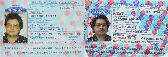 Amy Flaherty Installation Palindronic Sequences Art passport