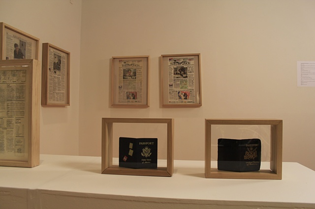 Amy Flaherty Installation Palindronic Sequences Art passport newspapers