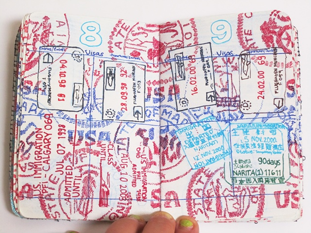 Amy Flaherty Palindromic Sequences passport Art