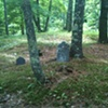 Bach cello suite no 2, played on classical guitar, played for the dead in a cemetery in Madison ME