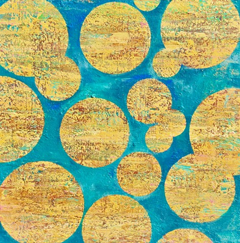 coastal art, big wall art, san diego, california, coastal, contemporary Abstract Art, circles, spheres, flowers, floral, jackson pollack, sunset, Ocean, modern, blue, orange, green, copper, turquoise, yellow, orange, contemporary art, abstract, san diego,
