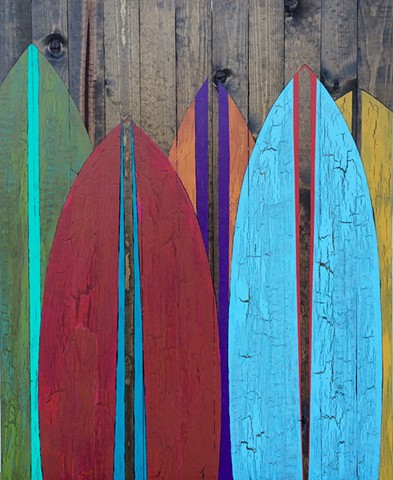 contemporary Abstract Art, surf, ocean, surfer, surfboard, beach art, beach decor, coastal decor, coastal, ocean art, circles, spheres, flowers, floral, jackson pollack, sunset, Ocean, modern, blue, orange, green, copper, turquoise, yellow, orange, contem