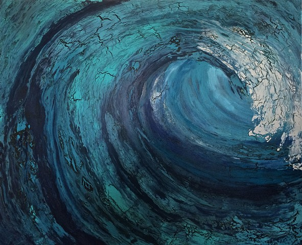 ocean art, wave, ocean, contemporary Abstract Art, circles, spheres, flowers, floral, jackson pollack, sunset, Ocean, modern, blue, orange, green, copper, turquoise, yellow, orange, contemporary art, abstract, san diego, san diego artist, affordable art,