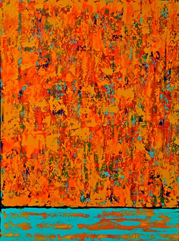 contemporary abstract art, LANDSCAPE, modern, blue, green, copper, yellow, orange, contemporary art, abstract, san diego, san diego artist, affordable art, bright, colorful, non-representational abstract art